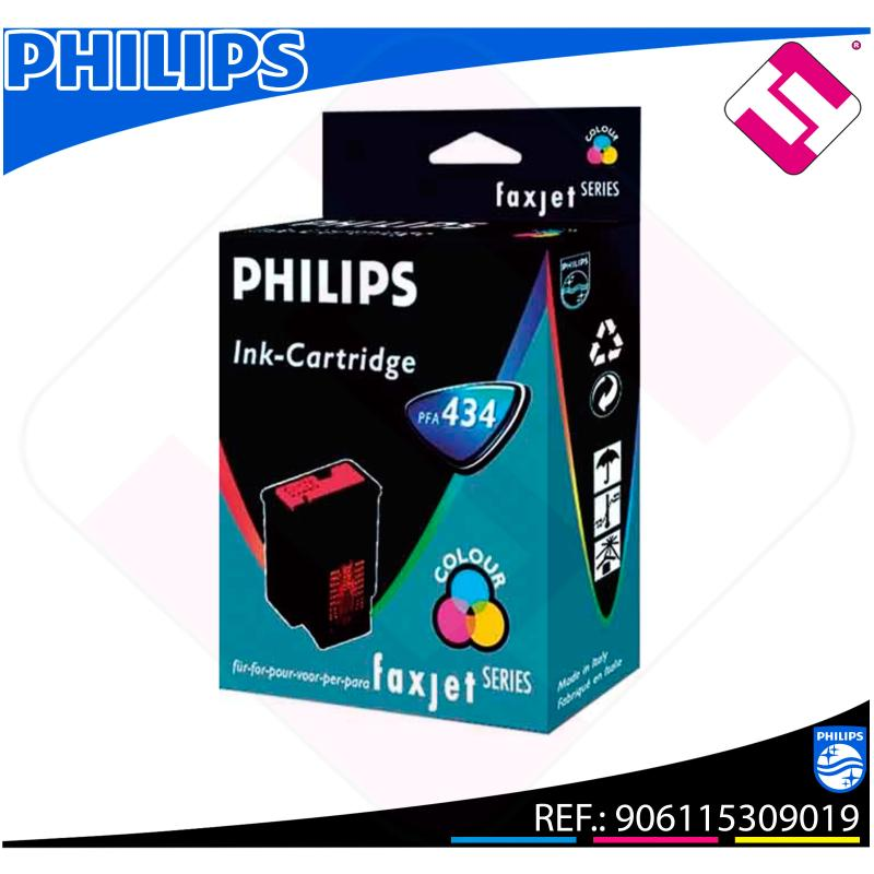 PHILIPS CARTUCHO INYECCION TINTA COLOR PFA 434 FAX JET IPF/3