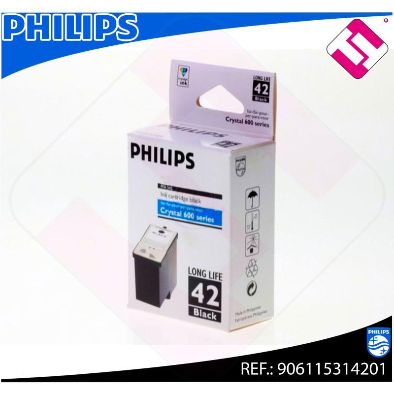 PHILIPS CARTUCHO INYECCION TINTA NEGRO PFA 542 1.000 PGINAS