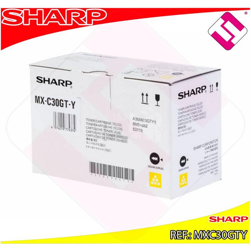 SHARP TONER AMARILLO MX-C250F/C300W/C301W