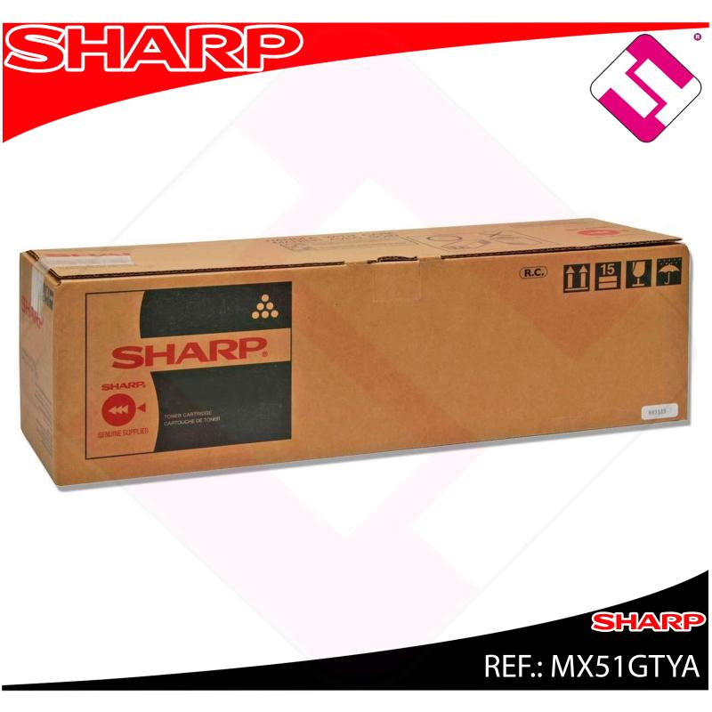 SHARP TONER AMARILLO MX4112N.5112N 18000PAGINAS