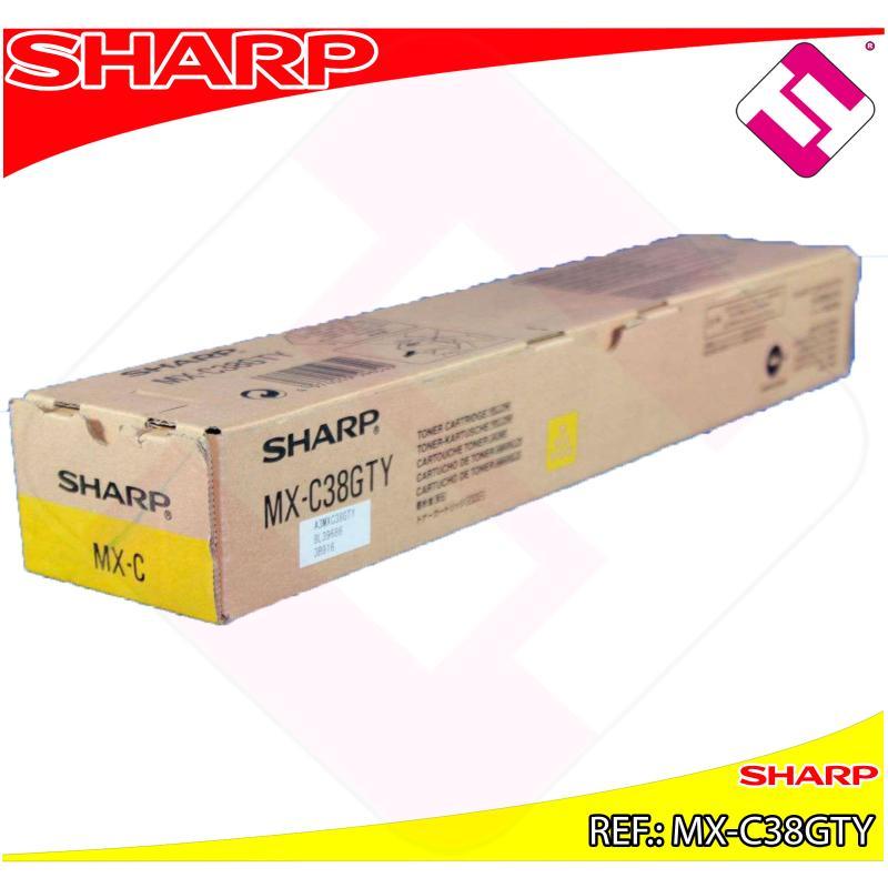 SHARP TONER COPIADORA AMARILLO MXC/310/311/380/381