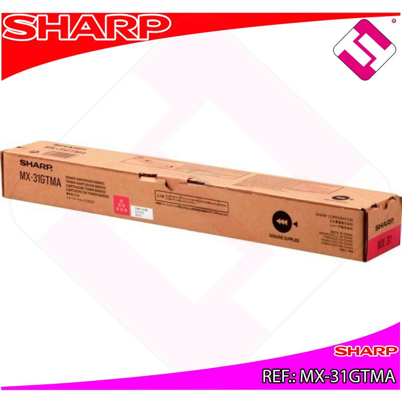 SHARP TONER COPIADORA MAGENTA MX/2301N/2600/3100/4100N/4101N