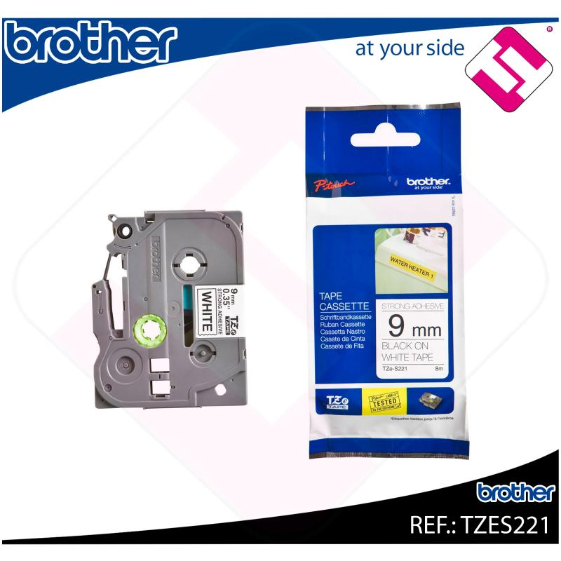 BROTHER CINTA ROTULADORA LAMINADA NEGRO/BLANCO 8M 9MM