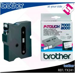 BROTHER CINTA ROTULADORA LAMINADA BLANCO/NEGRO 15M 18MM P-TO
