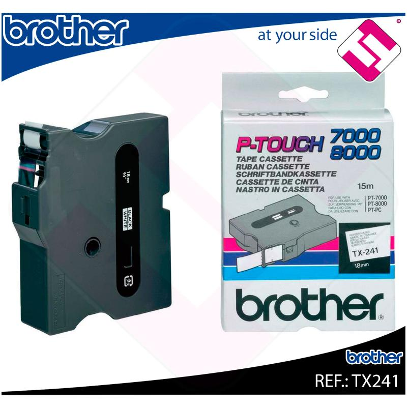 BROTHER CINTA ROTULADORA LAMINADA BLANCO/NEGRO 15M 18MM P-TO