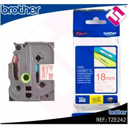 BROTHER CINTA ROTULADORA LAMINADA ROJO/BLANCO 8M 18MM