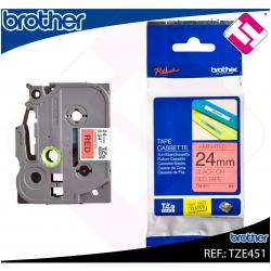 BROTHER CINTA ROTULADORA LAMINADA NEGRO/ROJO 8M 24MM