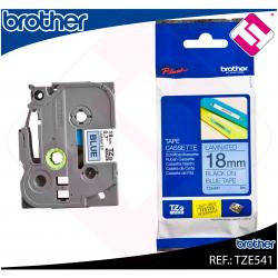 BROTHER CINTA ROTULADORA LAMINADA AZUL/NEGRO 8M 18MM