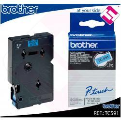BROTHER CINTA ROTULADORA LAMINADA AZUL/NEGRO 7.7M 9MM/PT500/