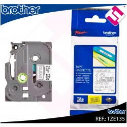 BROTHER CINTA ROTULADORA LAMINADA TRANSPARENTE/BLANCO 8M 12M