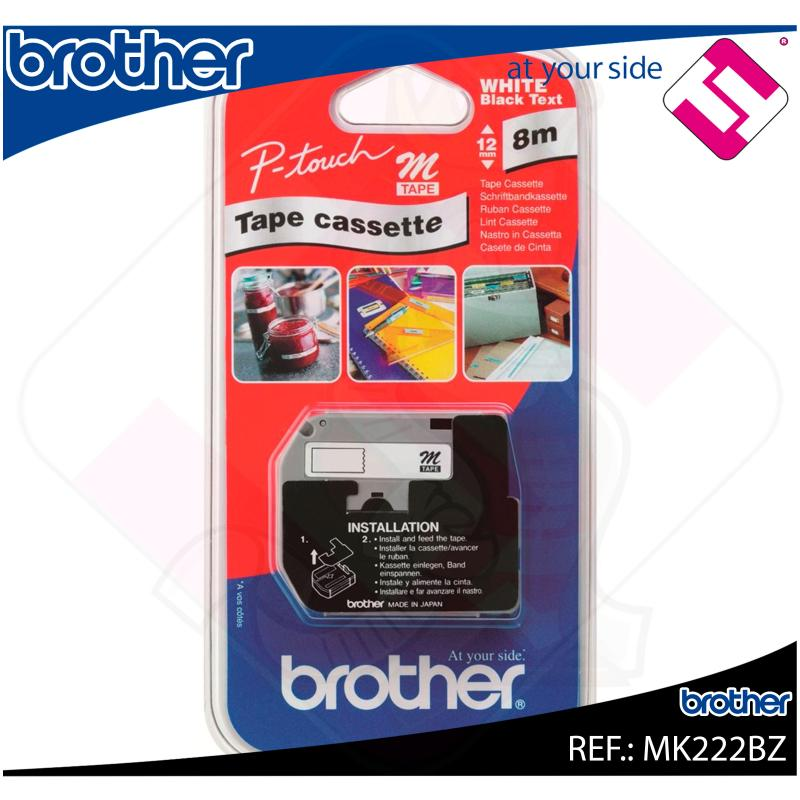 BROTHER CINTA ROTULADORA BLANCO/ROJO 8M 9MM P-TOUCH/65/85/11
