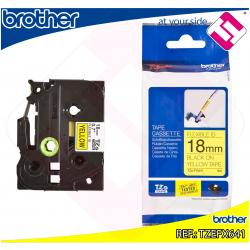 BROTHER CINTA ROTULADORA LAMINADA AMARILLA/NEGRA 8M 18MM