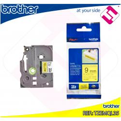 BROTHER CINTA ROTULADORA LAMINADA GRIS CLARO/BLANCO MATE 5M