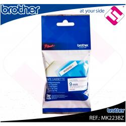 BROTHER CINTA ROTULADORA NO LAMINADA BLANCO/AZUL 8M 9MM