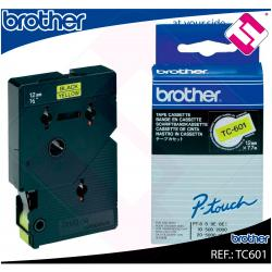 BROTHER CINTA ROTULADORA LAMINADA AMARILLA/NEGRA 7.7M 12MM P