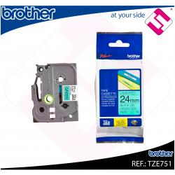 BROTHER CINTA ROTULADORA LAMINADA VERDE/NEGRO 8M 24MM