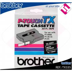 BROTHER CINTA ROTULADORA LAMINADA NEGRO/BLANCO 15M 12MM P-TO