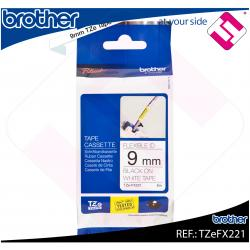 BROTHER CINTA ROTULADORA LAMINADA NEGRO/BLANCO 8M 9MM PT/109