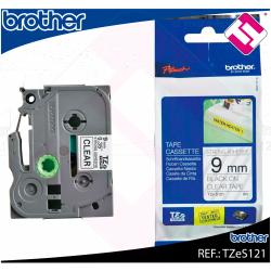 BROTHER CINTA ROTULADORA LAMINADA TRANSPARENTE/NEGRO 8M 9MM