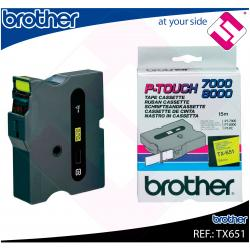 BROTHER CINTA ROTULADORA LAMINADA BK/YL 15M 24MM