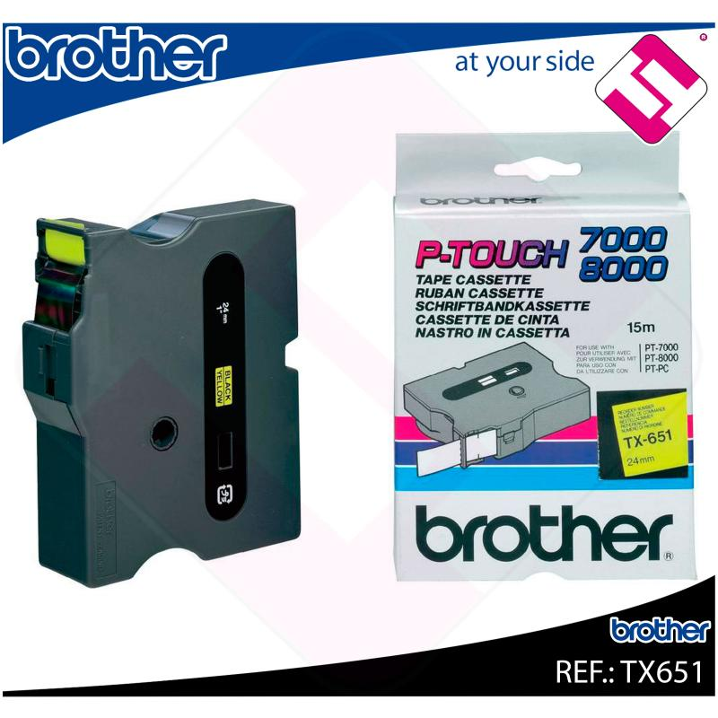BROTHER CINTA ROTULADORA LAMINADA BK/YL 15M 24MM