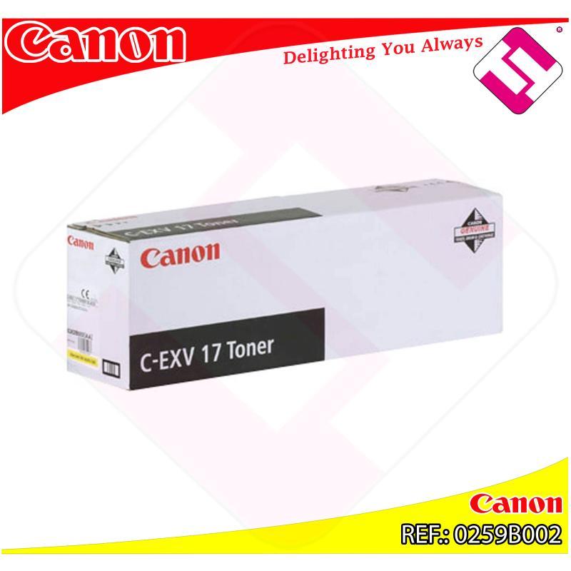 CANON TONER COPIADORA AMARILLO CEXV17 30.000 PAGINAS IRC/458
