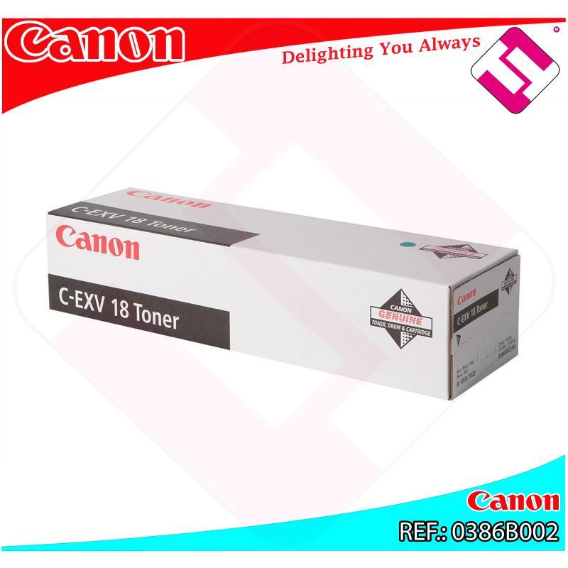 CANON TONER COPIADORA NEGRO CEXV18 8.4 P GINAS SERIE/IR1018/