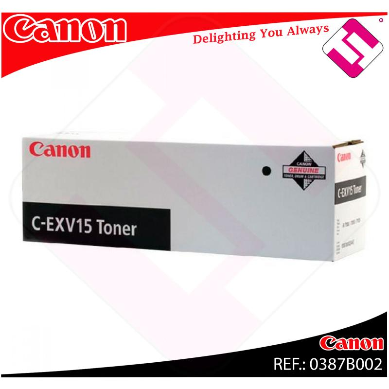 CANON TONER COPIADORA NEGRO C-EXV15 IR/7086/7095/7105