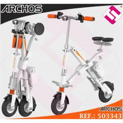 ARCHOS URBAN 20KMH COLOR BLANCO SCOOTER ELÉCTRICA FRENO ELECTRICO 350 VATIOS