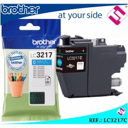 TINTA COLOR CIAN LC3217 CARTUCHO AZUL LC3217C IMPRESORAS BROTHER ORIGINAL