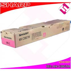 TONER COLOR MAGENTA ORIGINAL MX-C38GTM IMPRESORAS SHARP IMPRESION ALTA CALIDAD