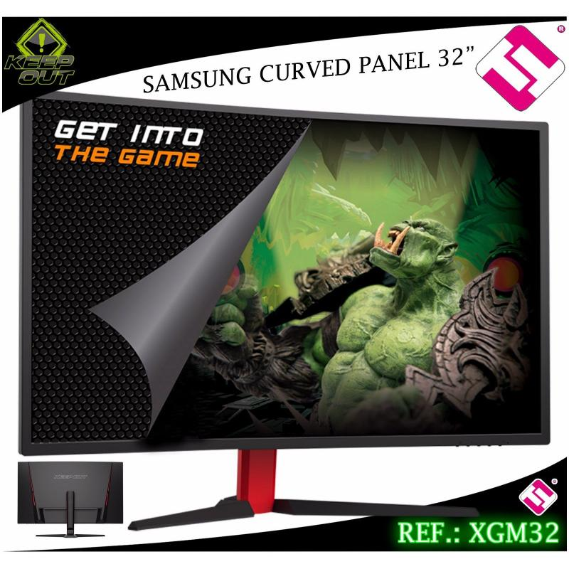 MONITOR 32 PULGADAS GAMING KEEP OUT XGM32 PANEL SAMSUNG CURVO FULL HD 178 GRADOS