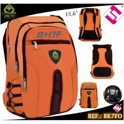 MOCHILA GAMING KEEP OUT 15,6 NYLON NARANJA FLUOR BK7FO CALIDAD PROFESIONAL