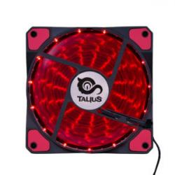 Talius ventilador caja 15 led FAN-03 12cm red