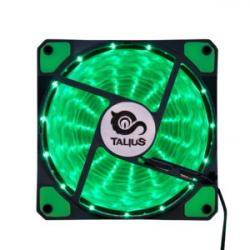 Talius ventilador caja 15 led FAN-03 12cm green