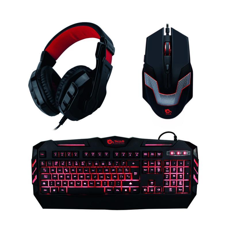 Talius gaming kit (teclado + raton + auriculares)