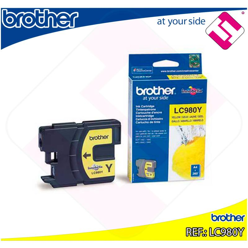 BROTHER CARTUCHO INYECCION TINTA AMARILLO 300 PGINAS DCP-/1