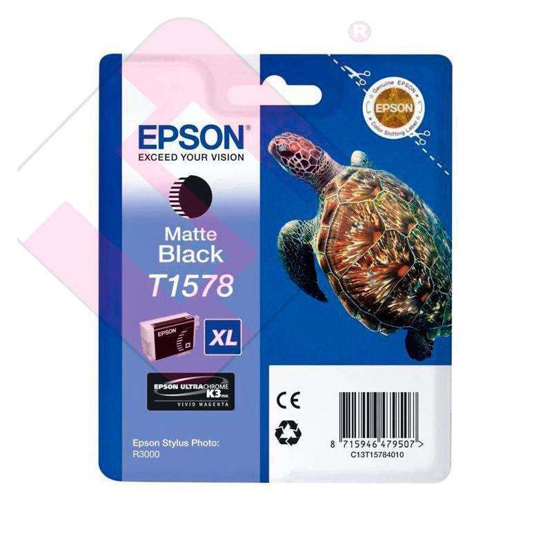 EPSON CARTUCHO INYECCION TINTA NEGRO MATE T1578 25.9ML BLIST