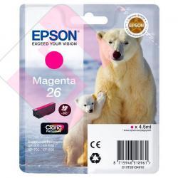 EPSON CARTUCHO INYECCION TINTA MAGENTA T26 300 PGINAS BLIST