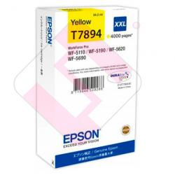 EPSON CARTUCHO AMARILLO XXL WORKFORCE WF-5XXX SERIES 4000PAG