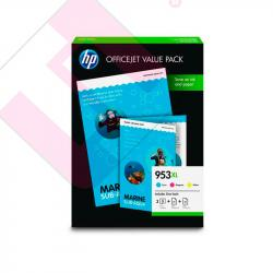 HP INK CARTRIDGE 953XL OFFICE VALUE PACK CMY