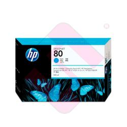 HEWLETT PACKARD CARTUCHO INYECCION TINTA CIAN 80 350ML DESIG