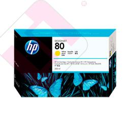 HEWLETT PACKARD CARTUCHO INYECCION TINTA AMARILLO 80 350ML D