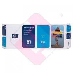 HEWLETT PACKARD CARTUCHO INYECCION TINTA CIAN 81 680ML ONLY