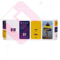 HEWLETT PACKARD CARTUCHO INYECCION TINTA AMARILLO 81 680ML D