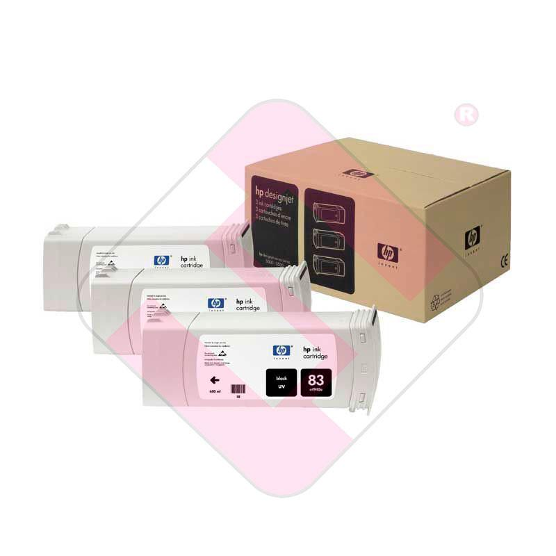 HEWLETT PACKARD CARTUCHO INYECCION TINTA NEGRO 83 UV 680ML P