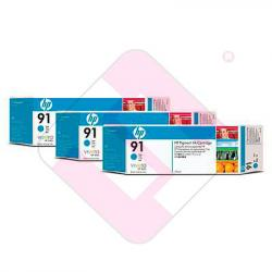 HEWLETT PACKARD CARTUCHO INYECCION TINTA CIAN 91 775ML PACK