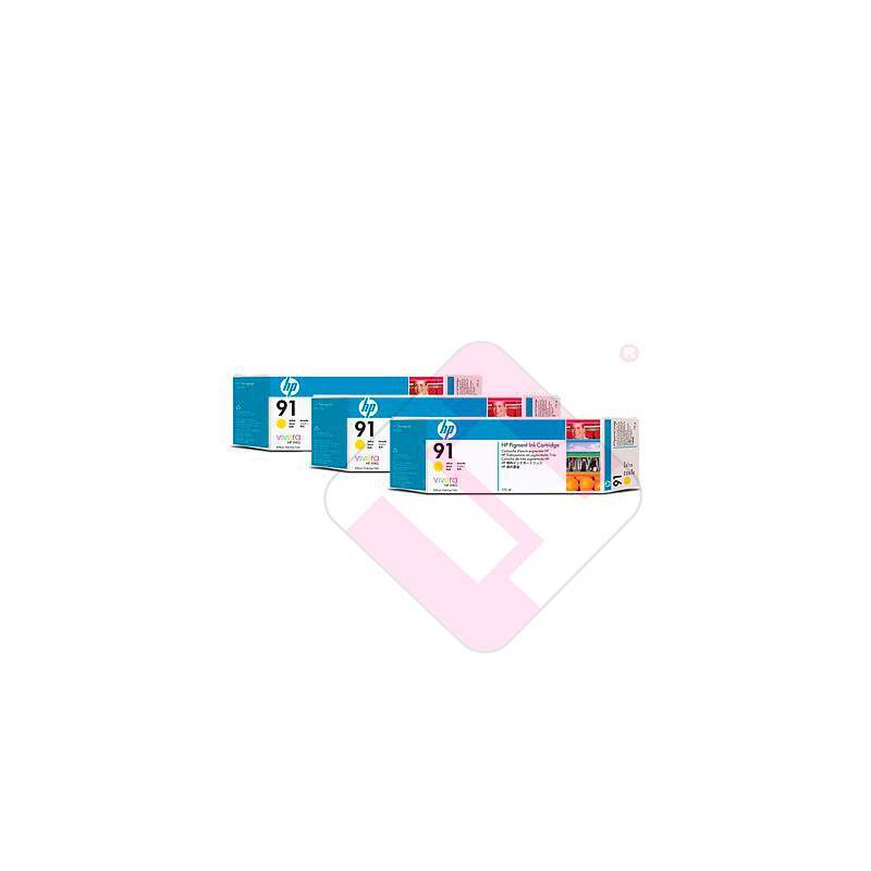 HEWLETT PACKARD CARTUCHO INYECCION TINTA AMARILLO 91 775ML P