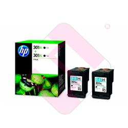 HEWLETT PACKARD CARTUCHO INYECCION PACK2 NEGRO 301XL 1000 P
