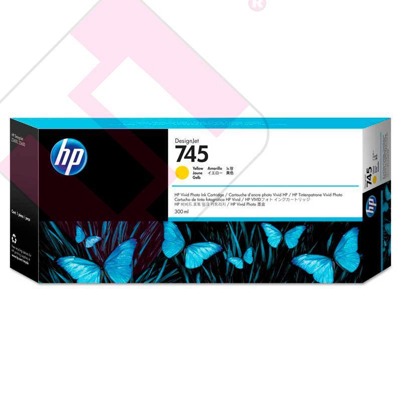 HP CARTUCHO TINTA AMARILLO 300ML 745 Z2600/Z5600